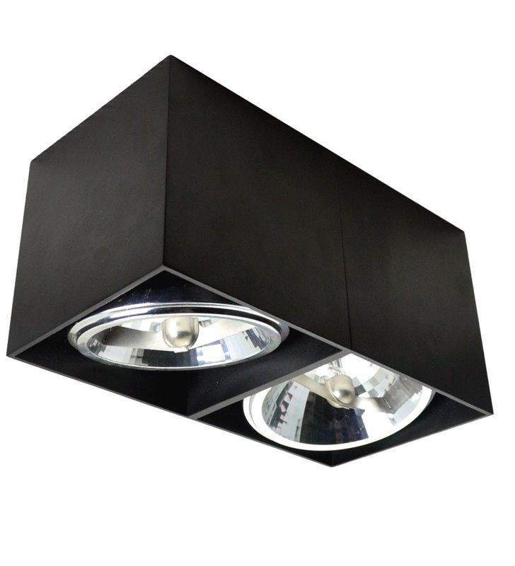 Lampa sufitowa downlight Box czarna podwójna oprawa ruchoma