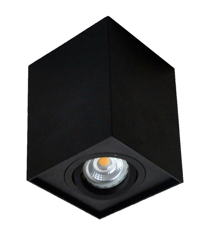 Ruchoma czarna oprawa sufitowa typu downlight Quadro ruchoma