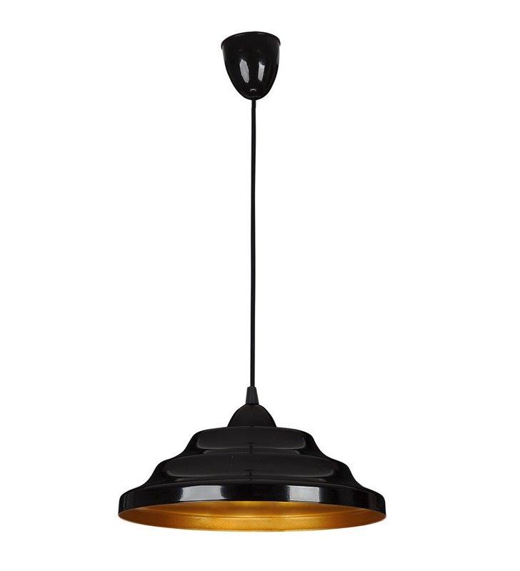 Lampa wisząca Onda czarna ze złotym środkiem - DOSTĘPNA OD RĘKI