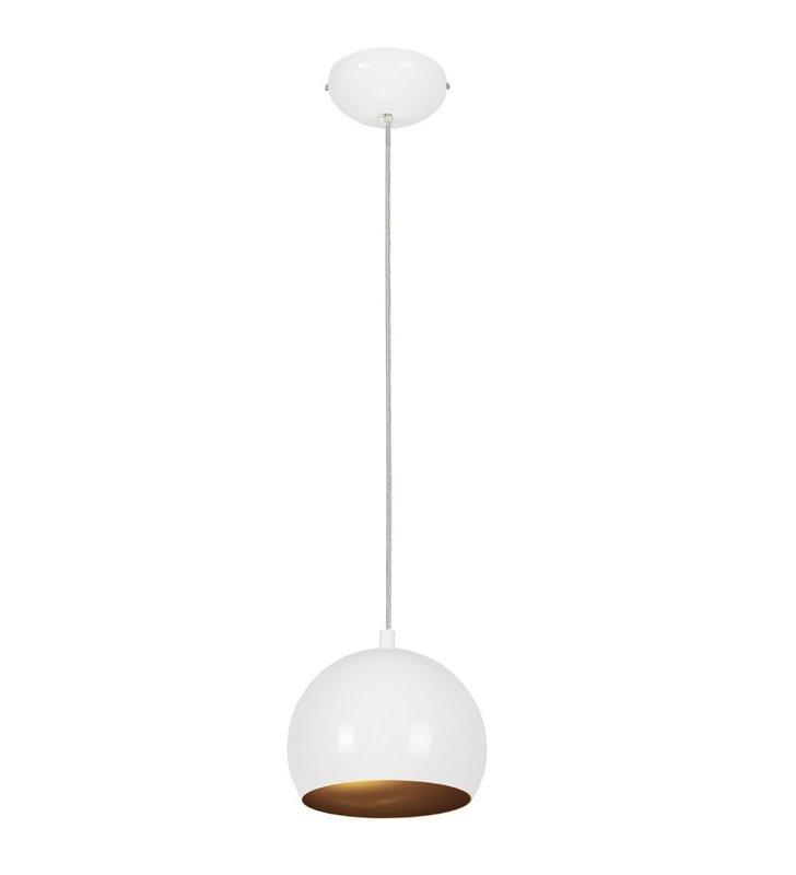 Lampa wisząca Ball biało złota kula - DOSTĘPNA OD RĘKI