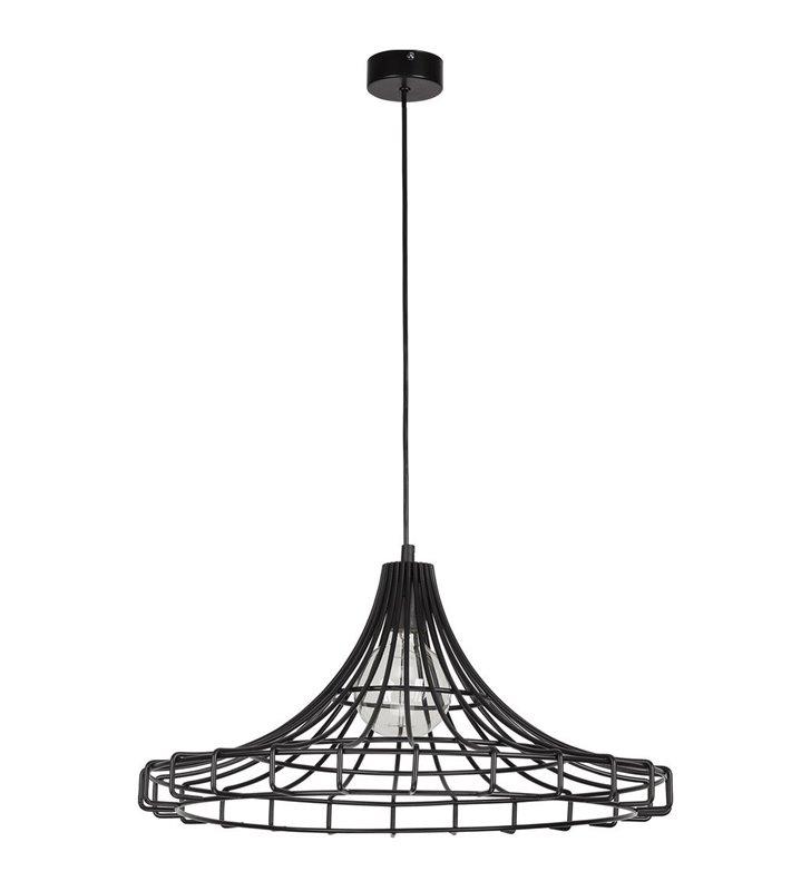 Czarna lampa wisząca Wire z drutu - DOSTĘPNA OD RĘKI