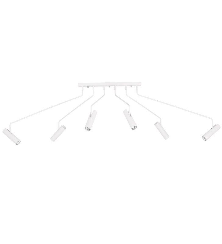 Lampa sufitowa Eye Super White biała z ruchomymi ramionami styl loftowy industrialny
