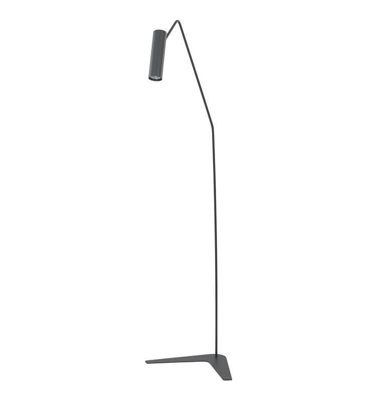 Lampa podłogowa Eye Super Graphite grafitowa lampa stojąca z małym kloszem