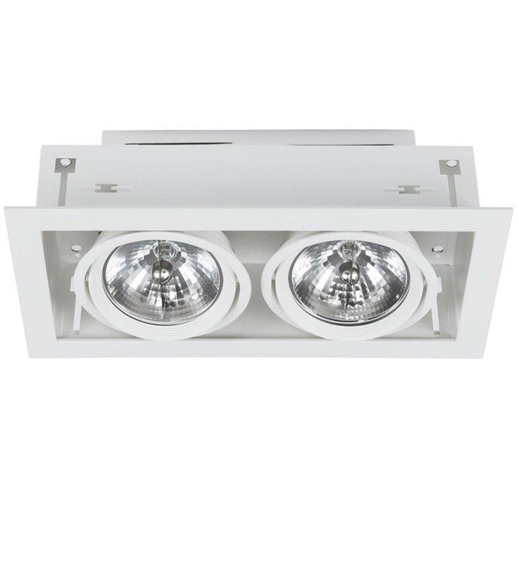 Lampa sufitowa Downlight White biała podwójna do wbudowania