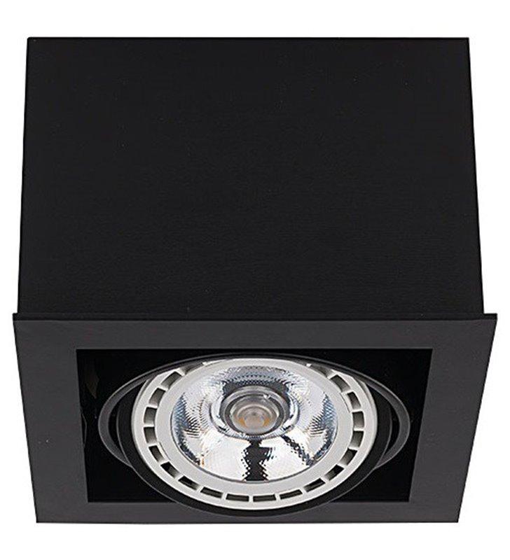 Lampa sufitowa natynkowa Box Black downlight kwadratowa