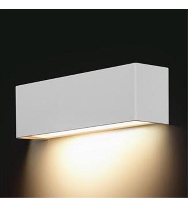 Kinkiet Straight White biały prostokątny świeci w dół