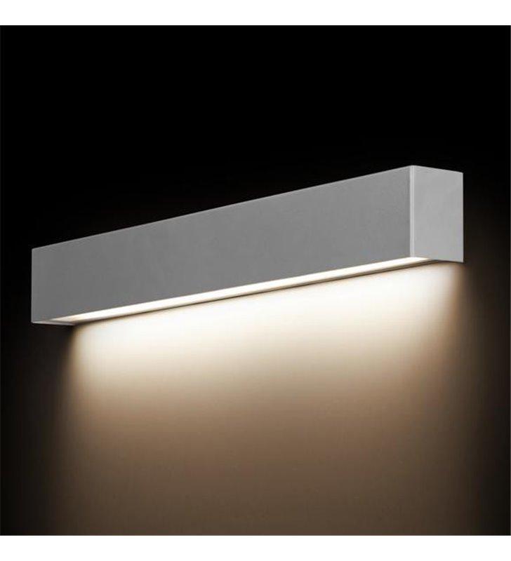 Kinkiet Straight Silver podłużny nowoczesny długi metalowy srebrny strumień światła w dół - DOSTĘPNY OD RĘKI