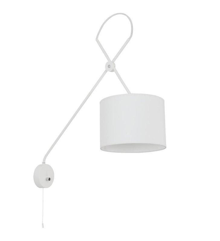 Kinkiet Viper White biały wysoki z włącznikiem sznureczkowym