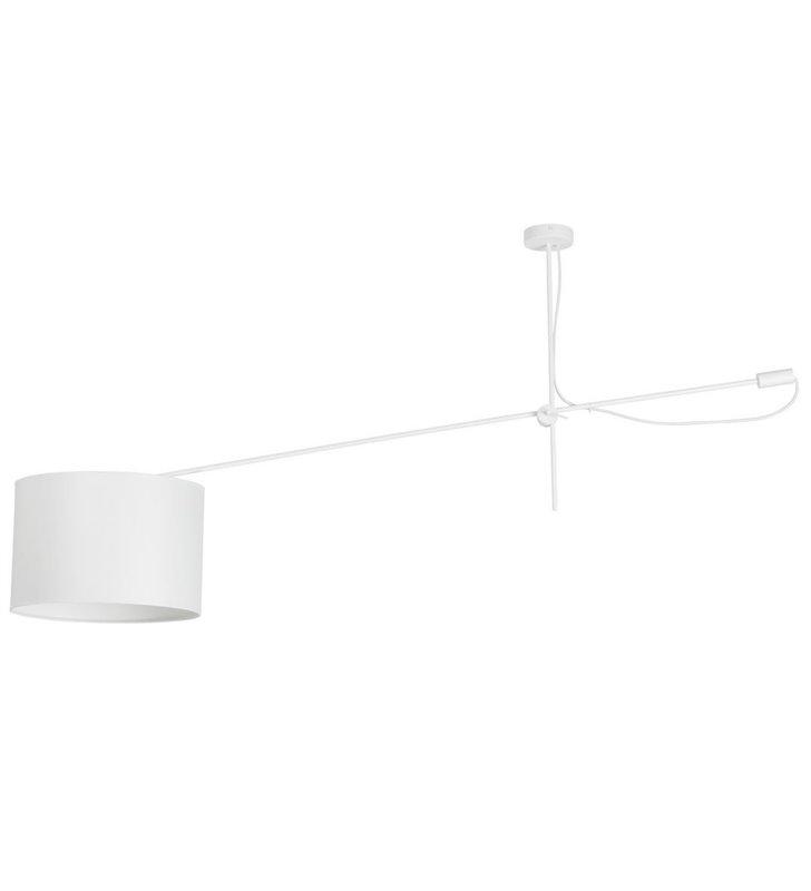 Lampa sufitowa Viper White biała pojedyncza z abażurem na regulowanym wysięgniku