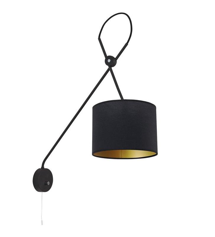 Kinkiet Viper Black czarny wysoki z włącznikiem sznureczkowym