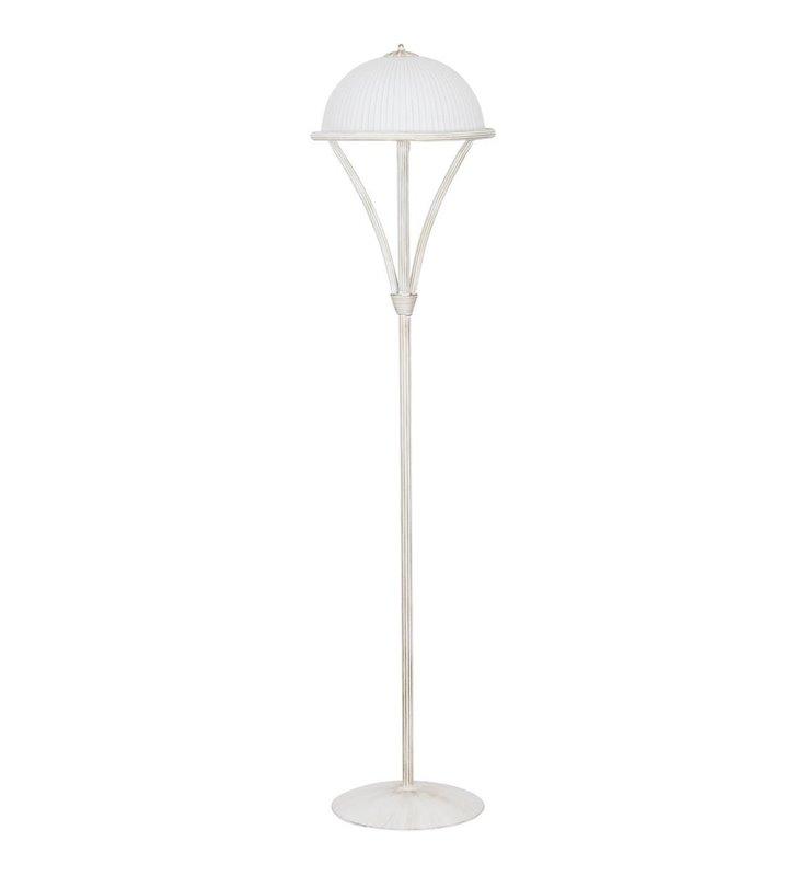 Lampa podłogowa Baron White biała klasyczna