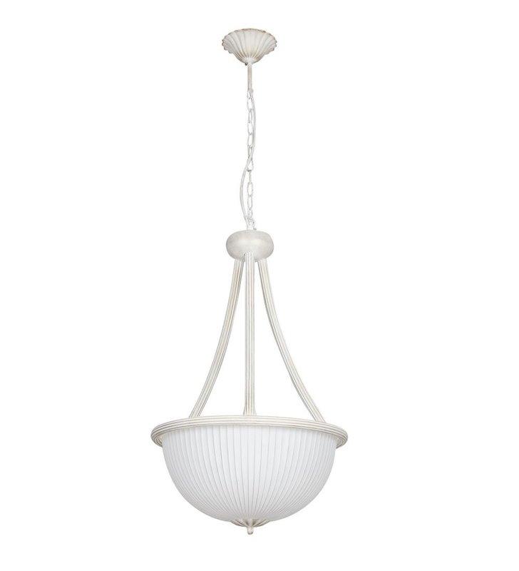 Lampa wisząca Baron White biała klasyczna ampla