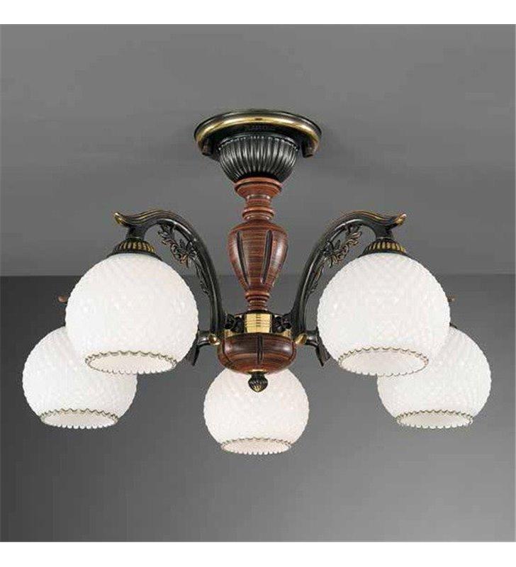 Lampa włoska żyrandol Siracusa pięcioramienny