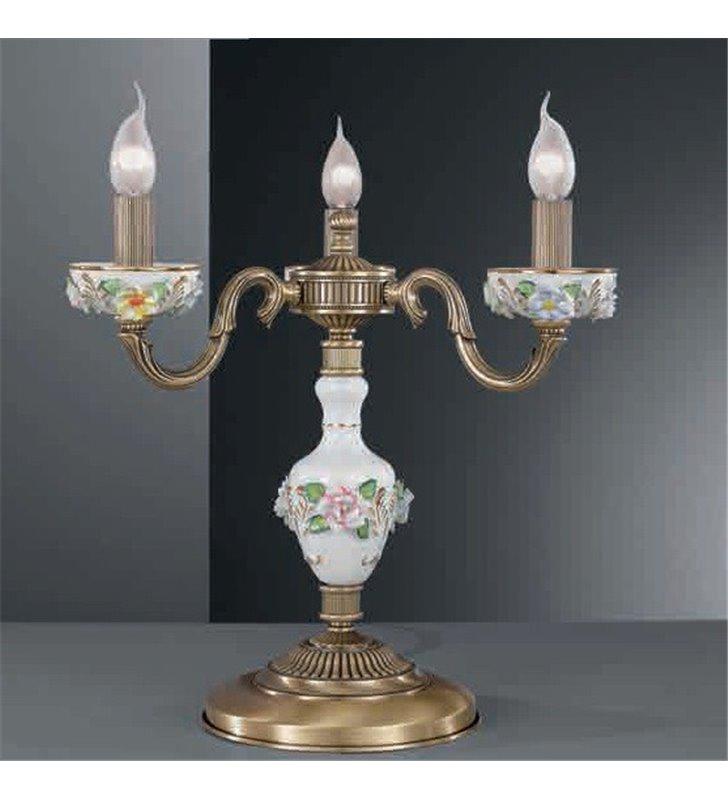 Lampa stołowa porcelanowa Marsala