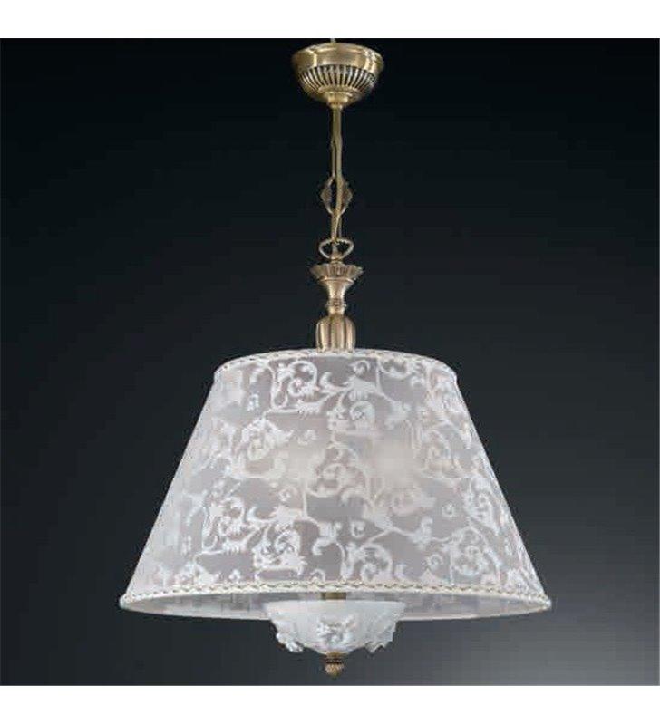 Lampa wisząca z haftowanym abażurem Bisceglie