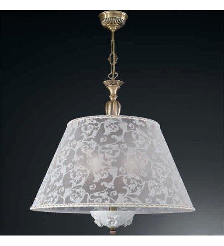Lampa wisząca Bisceglie porcelana abażur