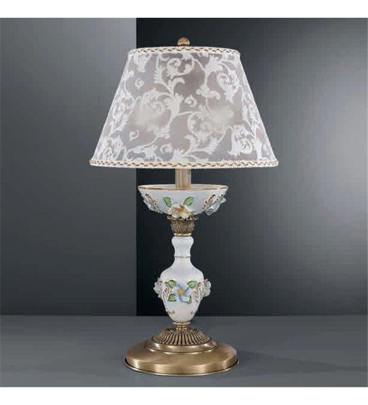 Porcelanowa lampa stołowa Accera mosiądz