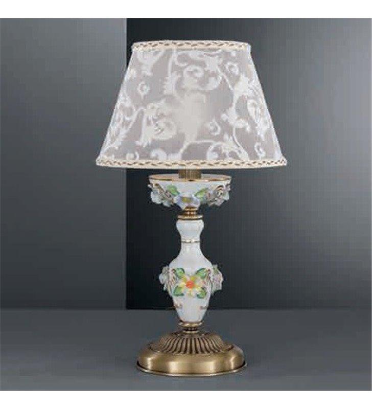 Lampa stołowa do sypialni Accera mosiądz