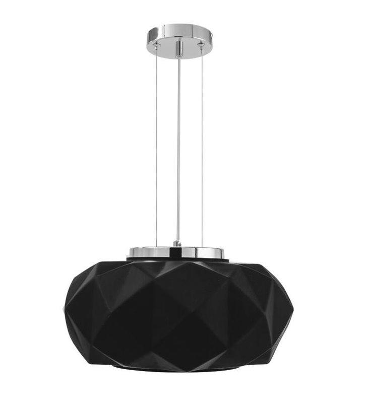 Lampa wisząca Terra czarna nowoczesna bryła