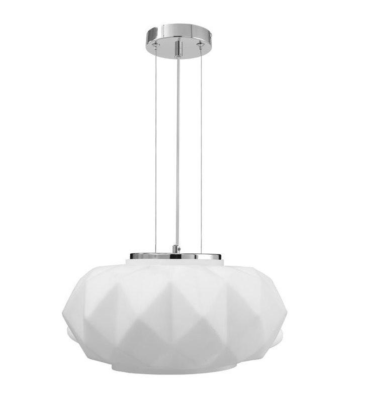 Lampa wisząca Terra biała nowoczesna bryła