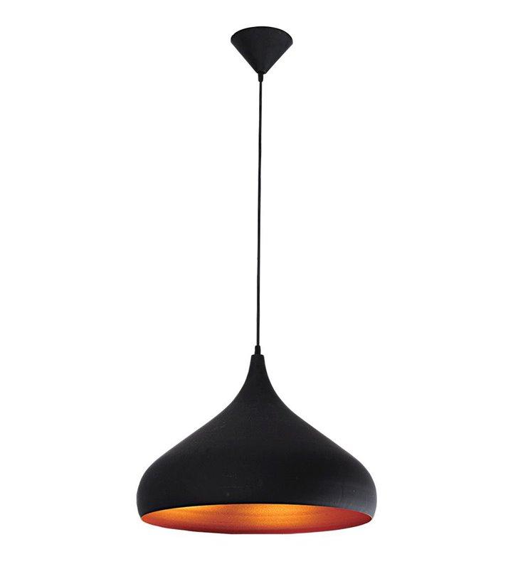 Lampa wisząca czarno złota Tuba