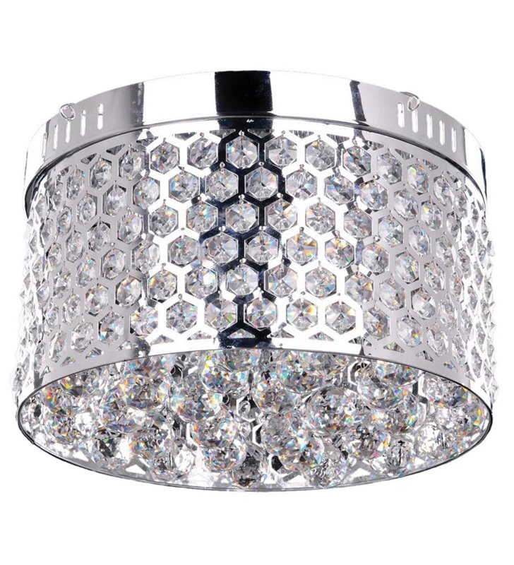 Okrągły plafon z kryształami Anetta 400