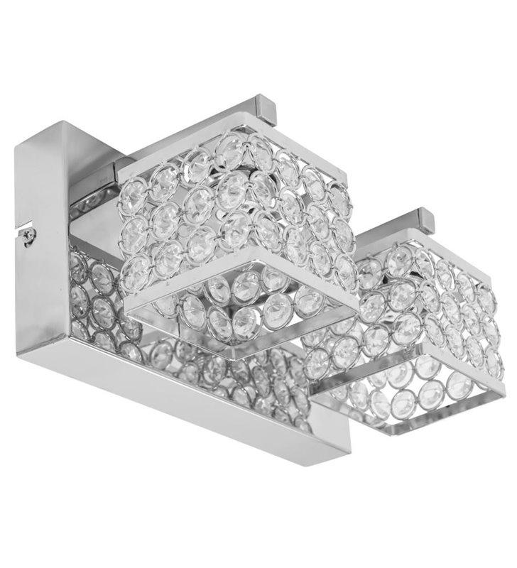 Chromowany podwójny kinkiet kryształowy Magna - DOSTĘPNY OD RĘKI