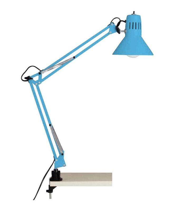 Lampa biurkowa przykręcana Felix niebieska