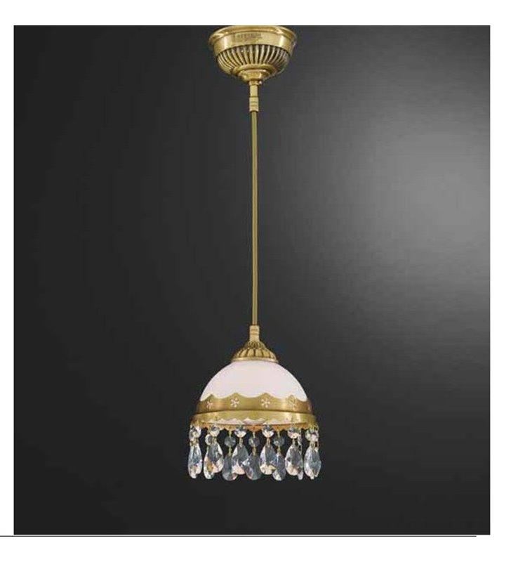 Mała lampa wisząca z kryształkami Bacoli