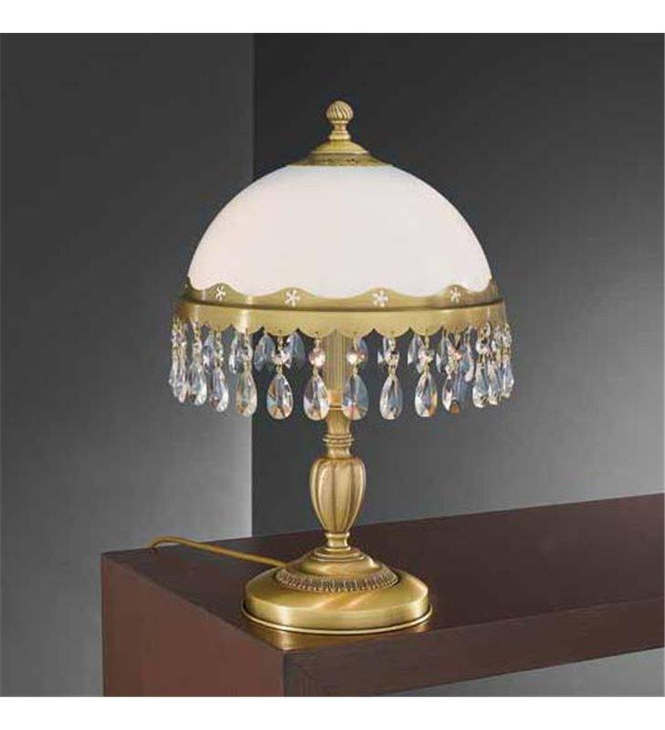 Lampa stołowa gabinetowa z kryształkami Bacoli
