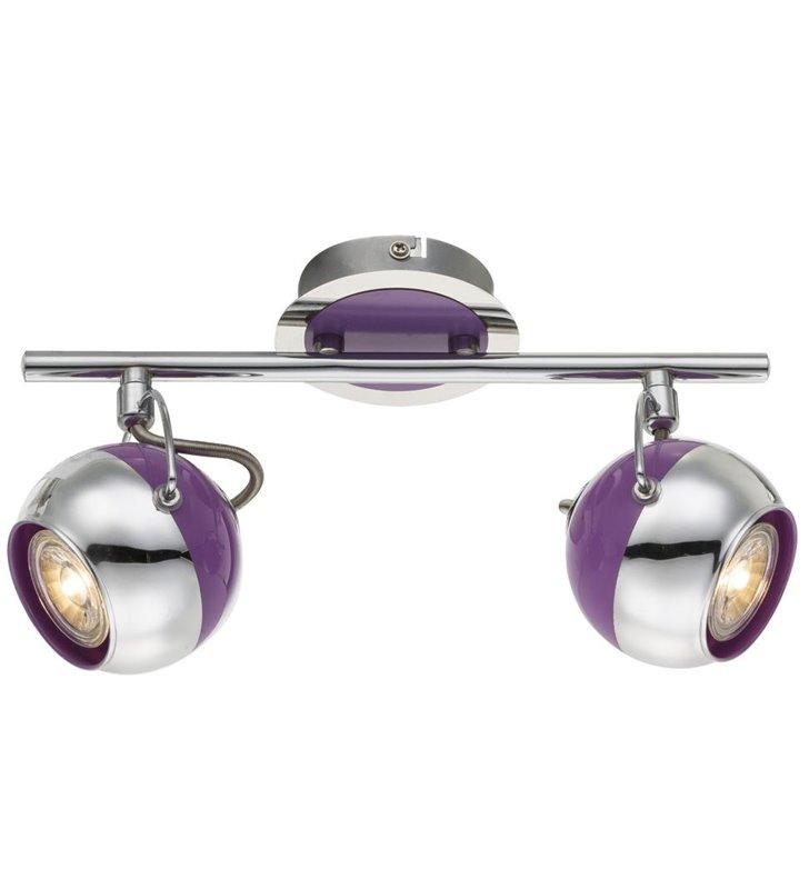Lampa sufitowa Splash podwójna fioletowa - DOSTĘPNA OD RĘKI
