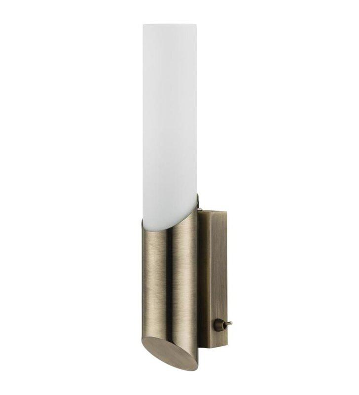 Kinkiet oświetlający lustro łazienkowe Aquatic patyna z przełącznikiem