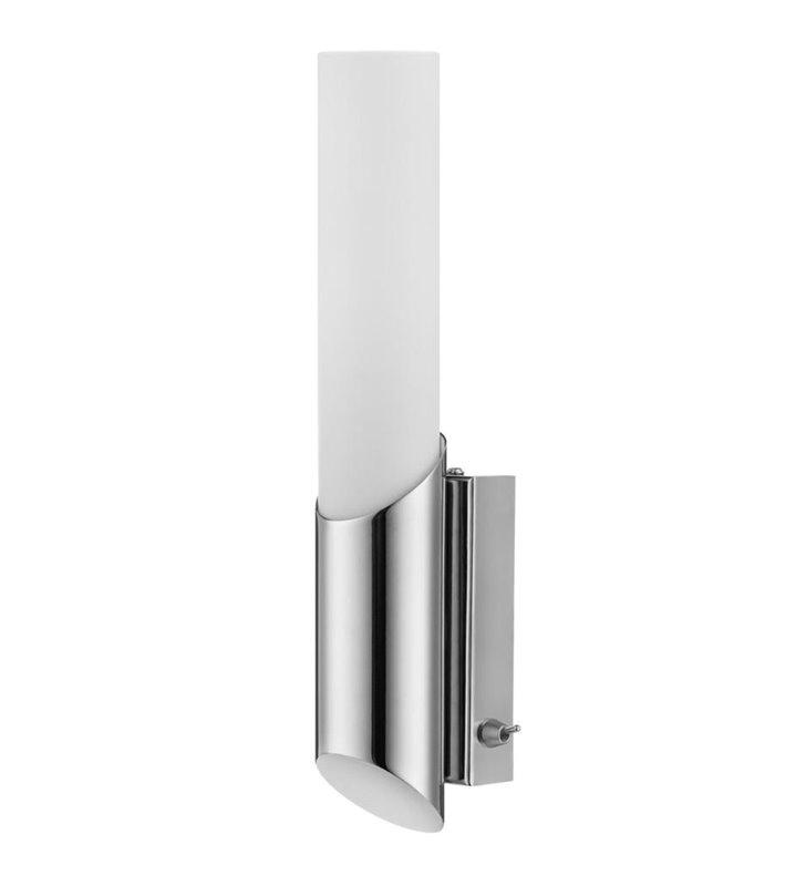 Kinkiet oświetlający lustro łazienkowe Aquatic chrom z przełącznikiem - DOSTĘPNY OD RĘKI