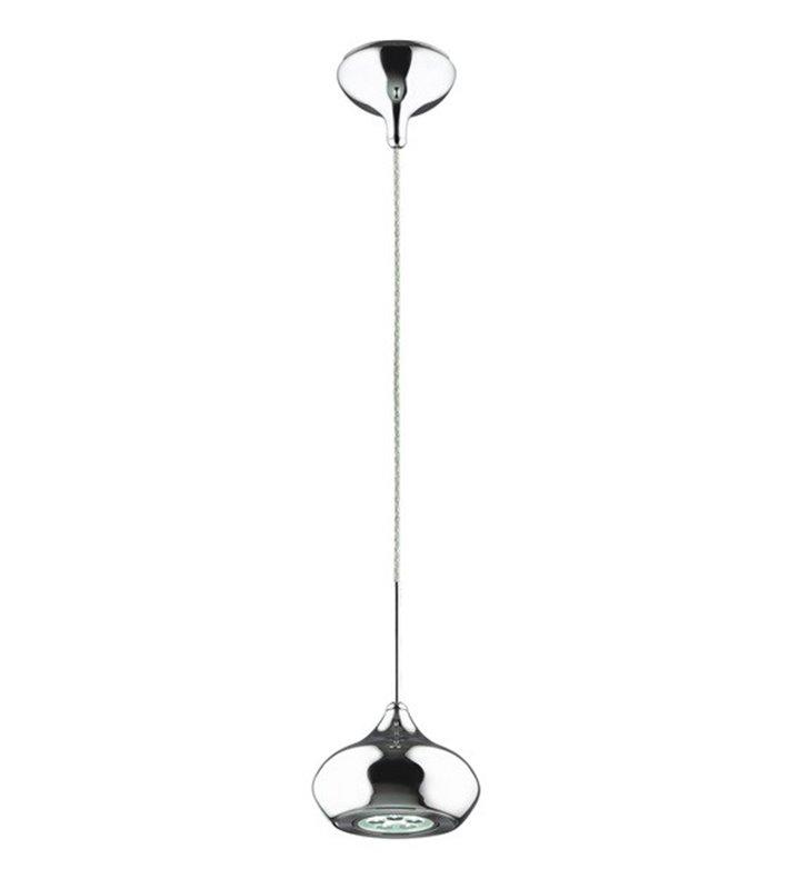 Mała lampa wisząca Alma nowoczesna LED pojedyncza chrom