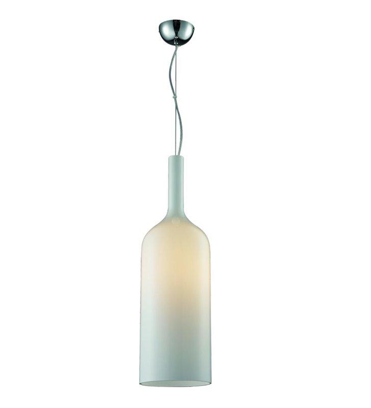Lampa wisząca biała szklana butelka Absoluto