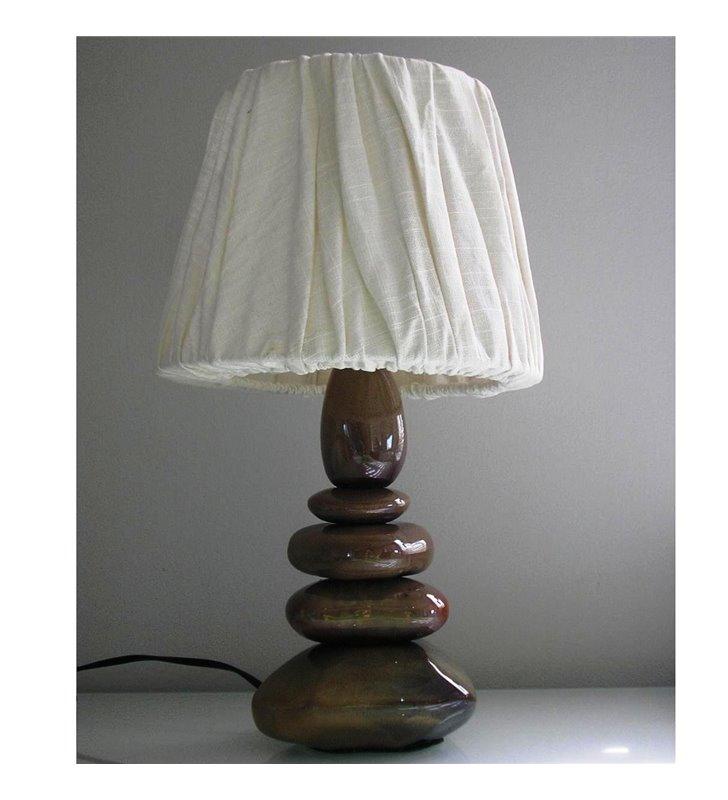 Lampa stołowa Stone podstawa ceramiczna jak kamienie - DOSTĘPNA OD RĘKI