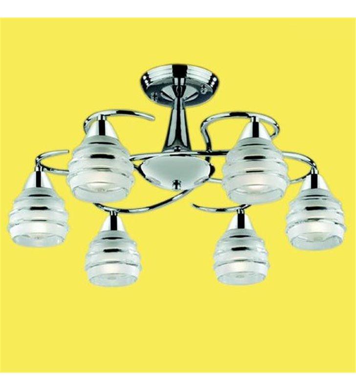 Lampa sufitowa krótki żyrandol Leona 6 płomienny chrom