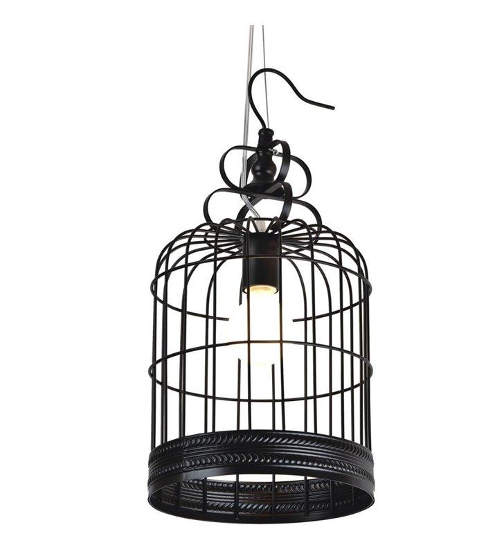 Cage czarna metalowa klatka lampa wisząca