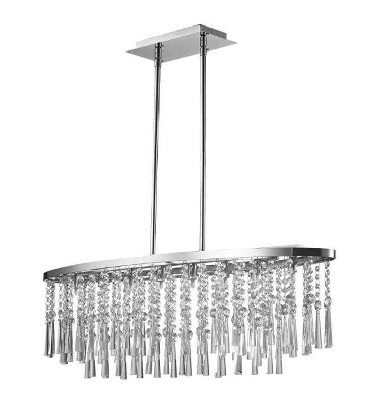 Kryształowa owalna lampa wisząca Luxoria nad stół do jadalni
