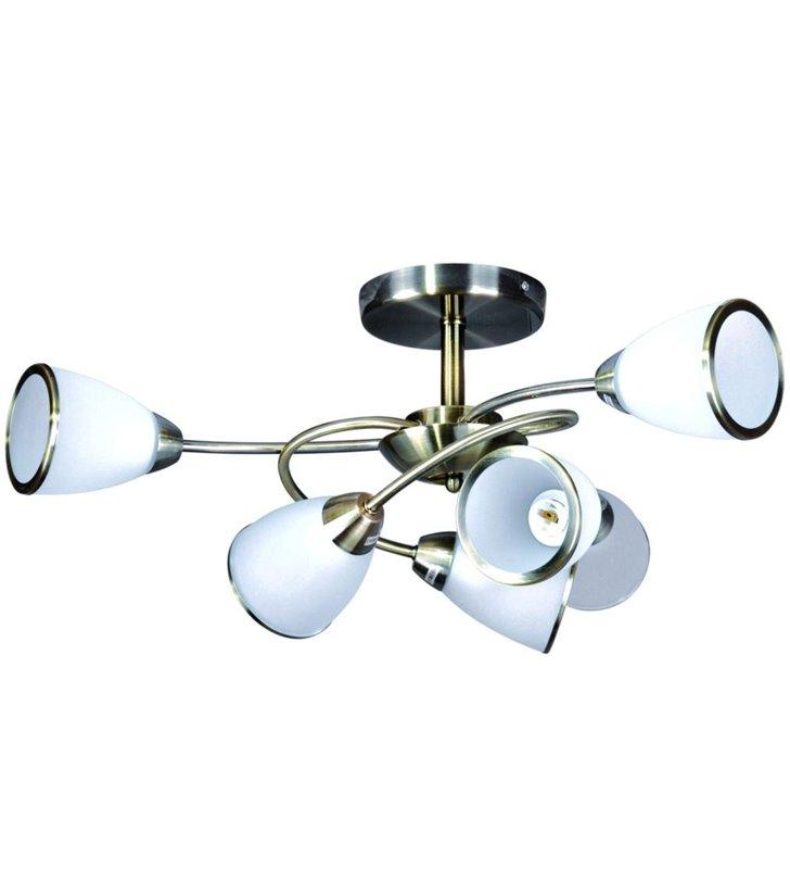 Lampa sufitowa Plato styl klasyczny 6 punktowa patyna