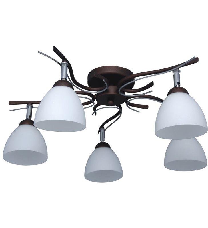Mono lampa sufitowa 5 punktowa brązowa do salonu sypialni kuchni na przedpokój