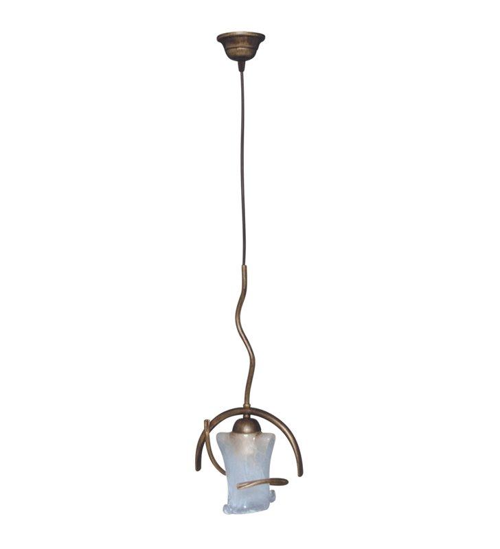 Lampa wisząca Magmus pojedyncza klasyczna brązowa