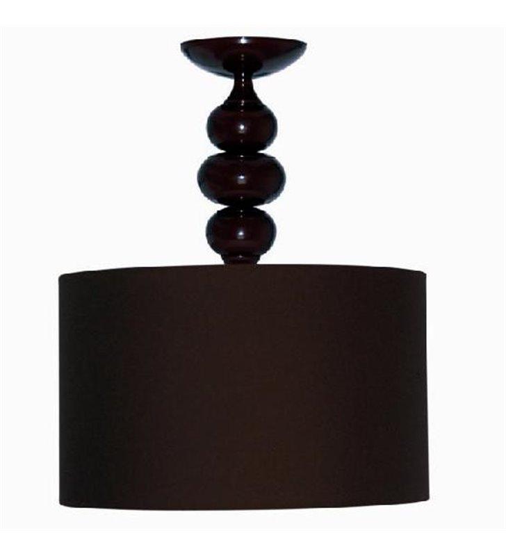 Lampa sufitowa Ibis Brown okrągła ciemno brązowa z abażurem