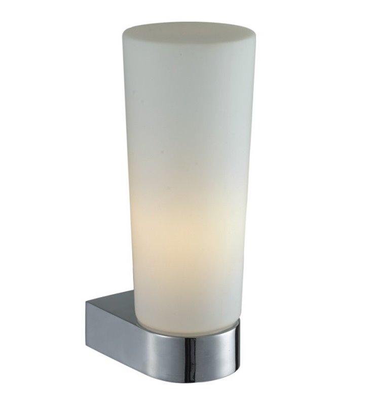 Pojedynczy kinkiet łazienkowy Aqua chrom na bok lustra