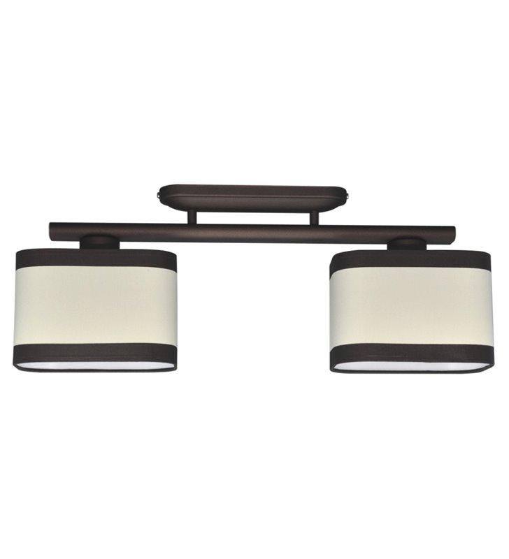 Podwójna lampa sufitowa Selene z abażurami w kolorze brązowym