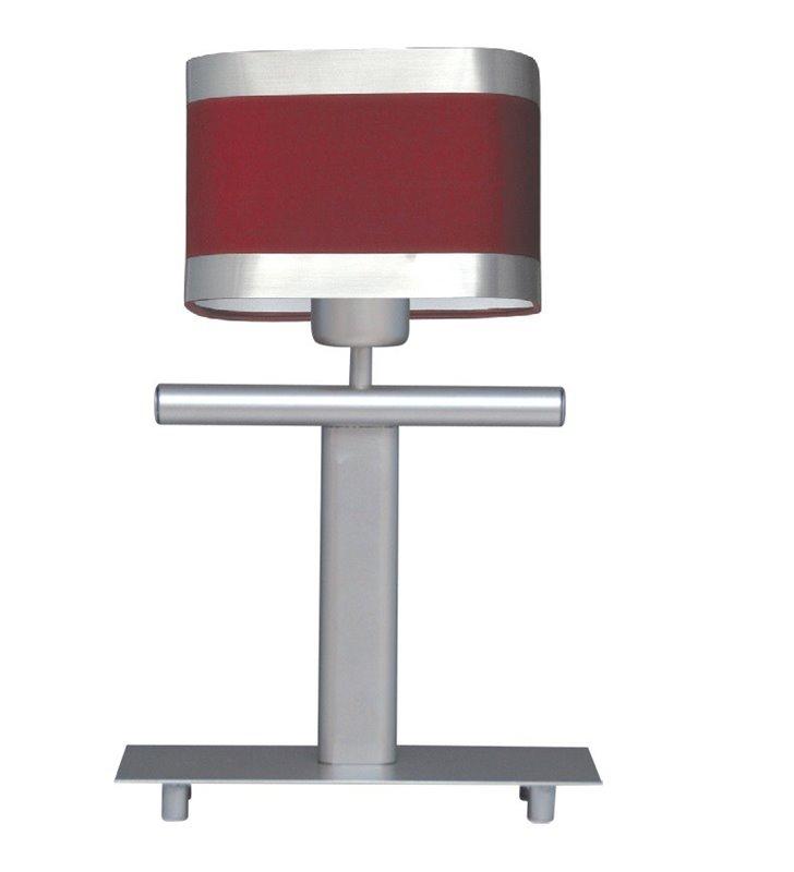 Lampa stołowa Selene czerwony abażur satynowe wykończenie