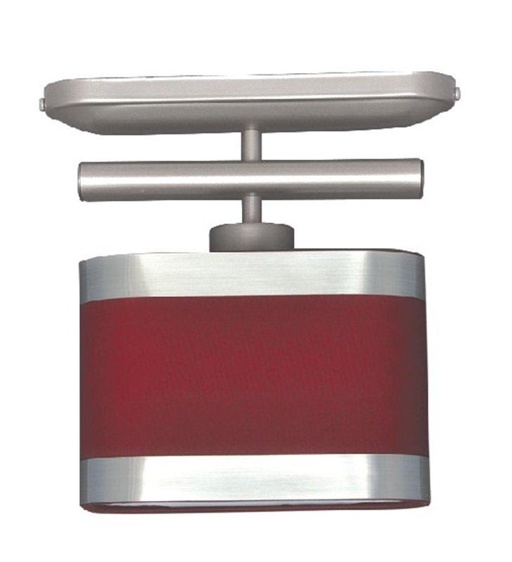 Lampa sufitowa Selene czerwona mała z 1 abażurem np. na przedpokój