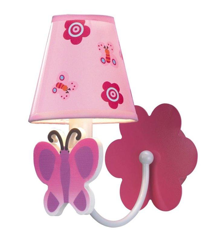 Motylek różowy kinkiet do pokoju dziewczynki- DOSTĘPNY OD RĘKI