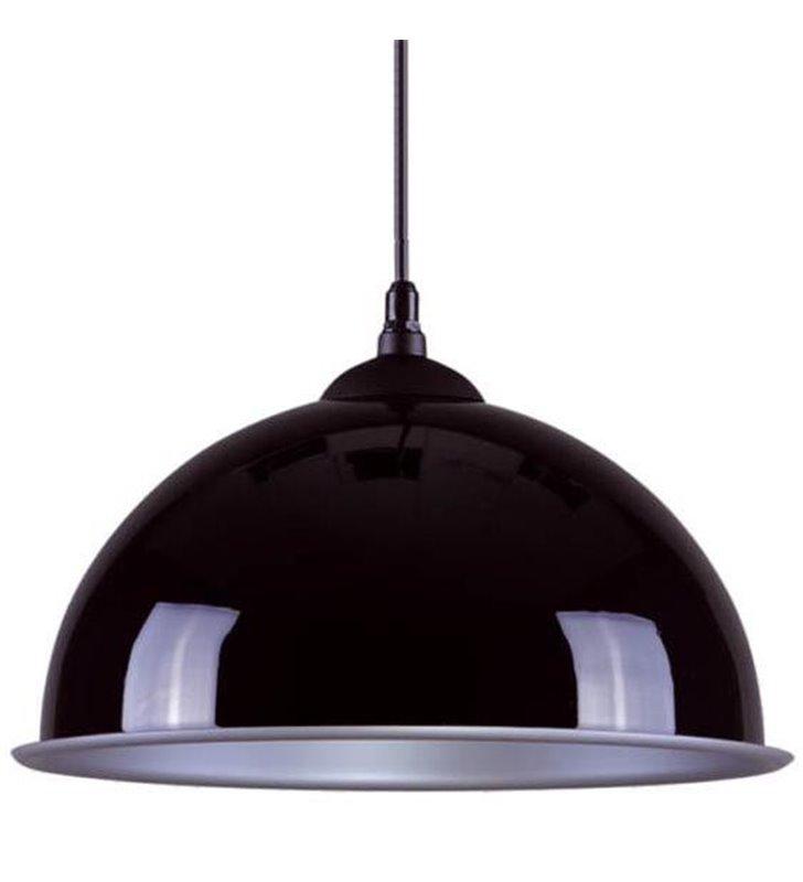 Lampa wisząca Beluga czarna ze srebrnym środkiem - DOSTĘPNA OD RĘKI
