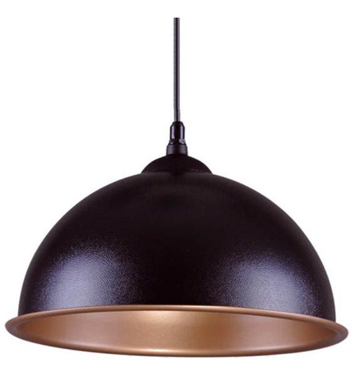 Lampa wisząca Beluga czarna matowa ze złotym środkiem - DOSTĘPNA OD RĘKI